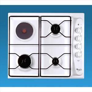 table de cuisson mixte gaz lectrique whirlpool akm261wh privadis. Black Bedroom Furniture Sets. Home Design Ideas