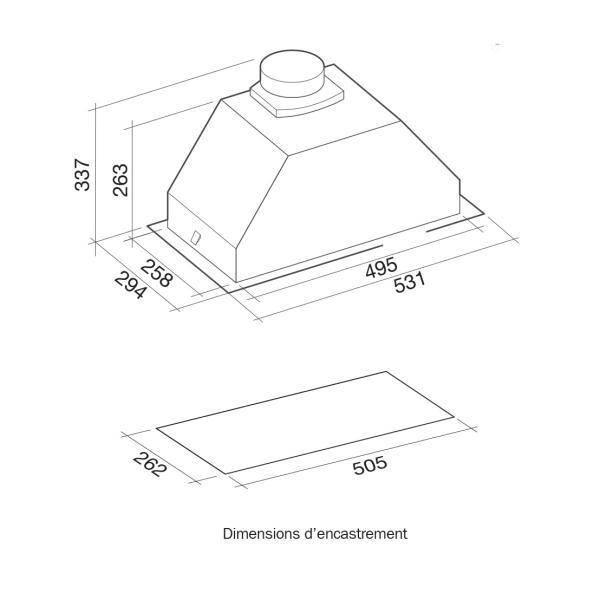 groupe filtrant avec moteur falmec gruppo3130 privadis. Black Bedroom Furniture Sets. Home Design Ideas